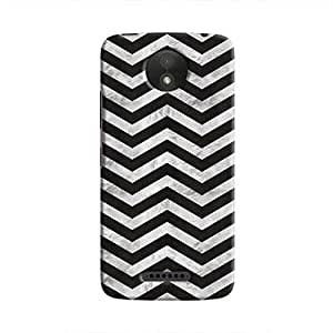 Cover It Up - Silver Black Tri Stripes Moto C Plus Hard case
