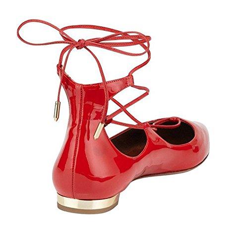 Sandalias Rojo Jushee cuña rojo mujer con p6xHnqw4H