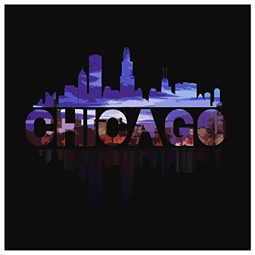 Lifehiker Designs Chicago City Canvas - Skyline Landmark U.S.A Souvenir Travel Canvas