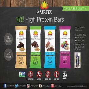 Paleo HIGH PROTEIN Variety Pack - Gluten-Free, Soy-Free, Dairy-Free, Non-GMO Certified - Vegan, Raw and Kosher - Kid-School Safe Snack - Clean fuel for athletes - Pack of 12 bars by Amrita