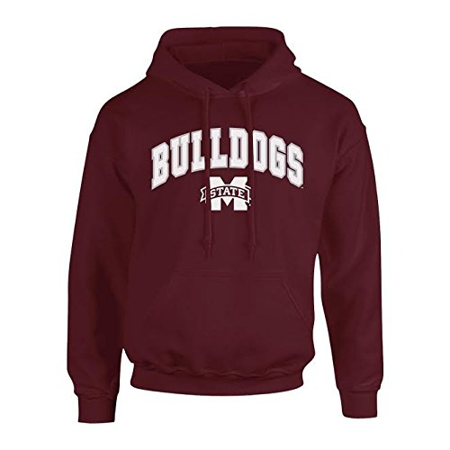 Elite Fan Shop NCAA Men's Mississippi State Bulldogs Hoodie Sweatshirt Team Color Arch Mississippi State Bulldogs Maroon Large