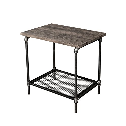 Starsong Retro Antique Industrial Vintage Style End Night Coffee Table/Tool Stand with Storage Shelf