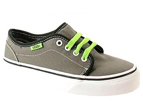 7a77e79128 Vans 106 Vulcanized (Pop) Pewter-Green Flash Kids Kids Footwear   Amazon.co.uk  Clothing