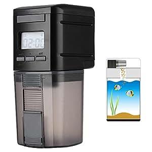 Petacc Alimentador Automático Acuario Multifuncional Comedero Peces Automático con Pantalla LCD y el Tiempo de Alimentación Configuración, Adecuado para ...