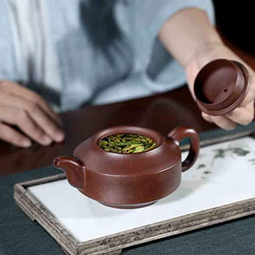 Tea Cozies Pure Handmade teapot Large Capacity Kung Fu Tea Set Tao Jian Hanjun Pot (Color : Brown, Size : 15.29.58cm) by Tea Cozies (Image #5)