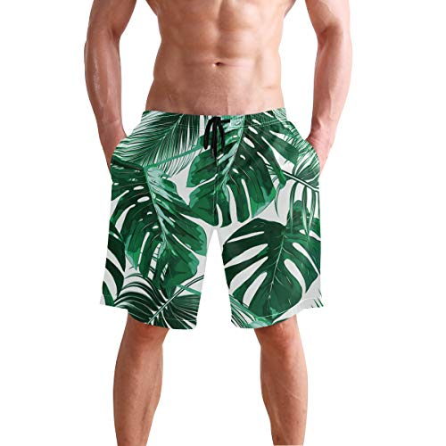 FASUWAVE Mens Swim Trunks Pipes Pattern Quick Dry Beach Board Shorts with Mesh Lining