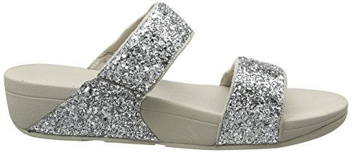 FitFlop Slide Silver Glitter Sandales Noir Glitterball Bout Femme Ouvert Unique 011 Taille Argent r4qrS5w