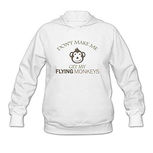 Flying Monkeys Hooded Sweatshirt - Hanfjj Kefdk Hooded Pullover Sweatshirts Don't Make Me Get Flying Monkeys 1 Tops Womens Cute