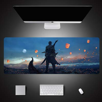 Lastaiole Large Mouse Pad Gaming Mouse Mat Desk Pad Non-Slip Rubber Base with Stitched Edges for Computer PC and Laptop 8030cm3mm(Challenger) ()
