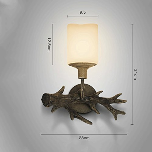 HY Wall Lamp- Living Room Bedroom Restaurant Bedside Resin Imitation Animal Wall Lamp (Color : B) by HY