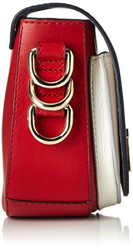 Tommy Hilfiger MID Leather Mini Colourblock, Sacchetto Donna, Multicolore (Corporate Colourblock), 3x6x6 cm (b x h x t)