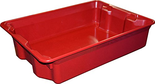 MFG Tray 7808085280 Toteline Nest and Stack Container, Glass Fiber Reinforce Plastic Composite, Capacity 500 lb, 25.25'' x 18.0'' x 6'', Red by MFG Tray