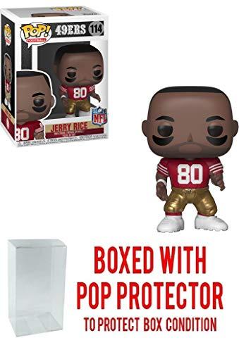 - Pop! NFL Legends: Jerry Rice San Francisco 49ers Vinyl Figure (Bundled with Pop Protector)