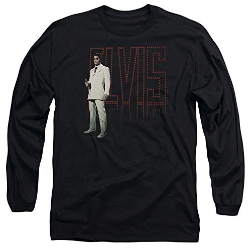 Elvis Presley White Suit Unisex Adult Long-Sleeve T Shirt for Men and Women, 3X-Large -