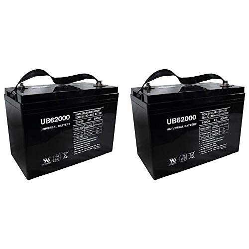Universal Power Group UB62000 6V 200Ah Battery M83CHP06V27 RA6-200 PS-62000 Pallet Jack Battery - 2 Pack