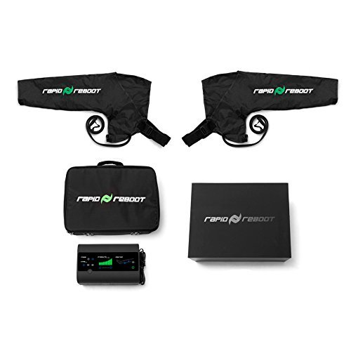 Rapid Reboot Recovery Arm System: Compression Arms, Pump, and Case. Sequential, dynamic air compression for massage therapy, improved circulation and faster workout recovery for all athletes (Regular) by Rapid Reboot