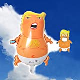 Political Statement Trump Baby Party Balloons Funny Angry Baby Donald Trump Balloon – Come With A Bottle Opener Fridge Sticker