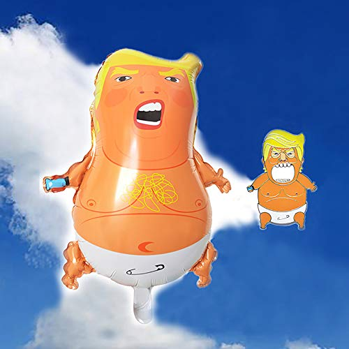 Political Statement Trump Baby Party Balloons Funny Angry Baby Donald Trump Balloon - Come With A Bottle Opener Fridge Sticker