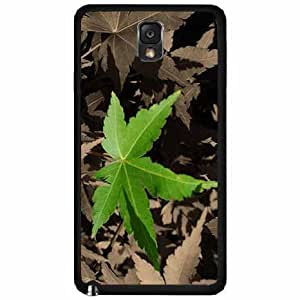Green Leaf - Phone Case Back Cover (Galaxy Note 3 - Plastic)