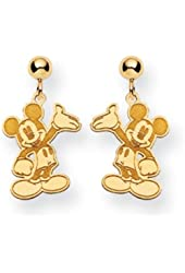 Disney's Waving Mickey Mouse Dangle Earrings in 14 Karat Gold