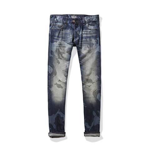 Taglio Vintage Estremo Ragazzo lannister Pantaloni Usati Con In Uomo Da Strappo Strappati Jeans Qk M1231 A Lunghi Mano vY8P8