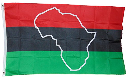 African Afro American Africa Continent Map Flag 3 X 5 3x5 New