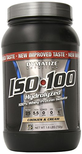 Dymatize ISO100 hydrolysée 100% Whey Protein Isolat Cookies & Cream - £ 1,6