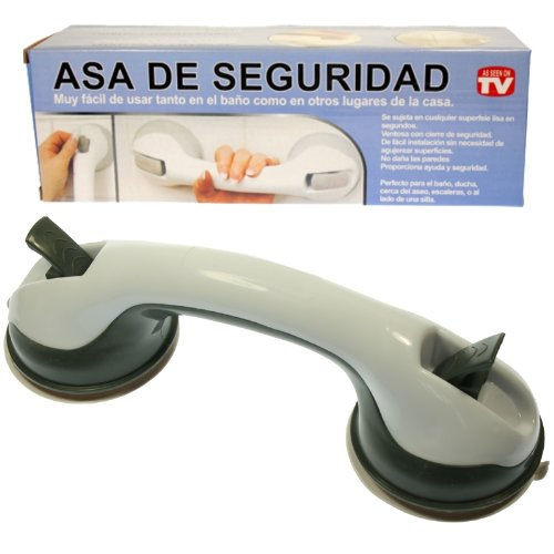Helping Handle Safety Grip Handle for Shower and Bath: Olive and White
