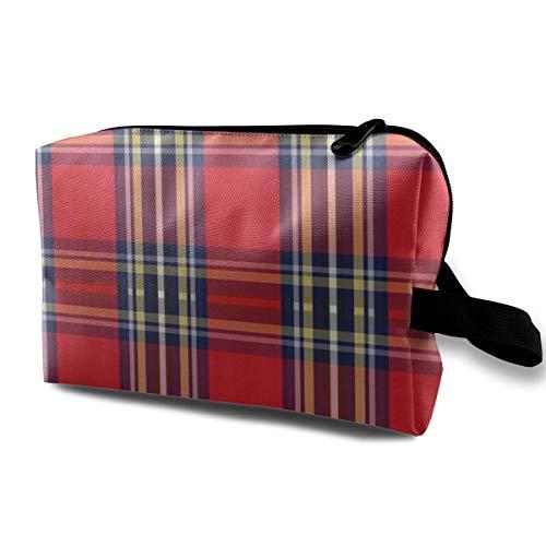 Bannockburn Oil - 12 X 12 Christmas Plaid Full Colors_15407Luxury Checkered Make Up BagCosmetics MakeupTravel SetWomen