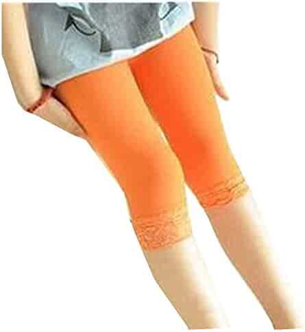 925dddce03c1a Girl's Legging Tight Baby Toddler Lace Trim Bootcut Footless Solid Cotton  Stockings Pant Sock for Girls