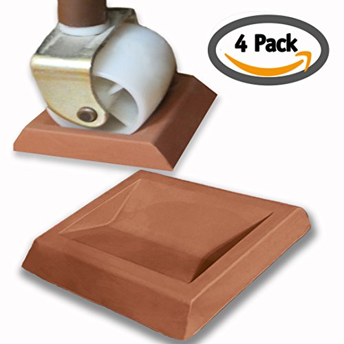 iPrimio - Newest Bed Stopper / Furniture Stopper by iPrimio. Universal Design fits Most Wheels. Solid Rubber. Won't Scratch / Leave Marks on Floors. Patent Pending.