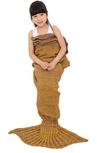 smile-ykk-children-girls-ruffle-trim-mermaid-weave-sofa-bed-blanket-yellow