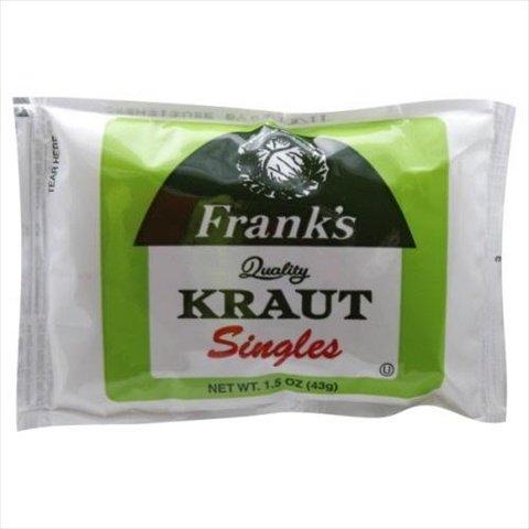 Frank's Sauerkraut Singles, 1.5 Ounce (18 Pack)