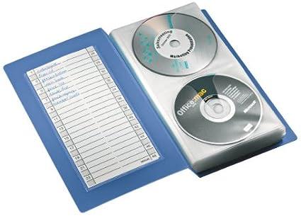 Esselte - Archivador para 48 CDs/DVDs, 15,2 x 27 x 4,3 cm, Azul ...