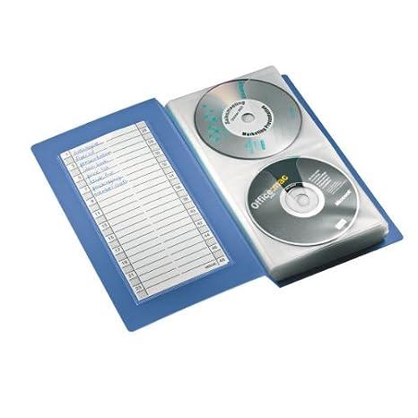 Esselte - Archivador para 48 CDs/DVDs, 15,2 x 27 x 4,3 cm, Azul translúcido: Amazon.es: Oficina y papelería