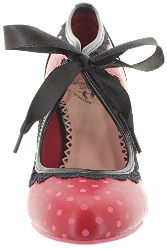 De Polka rouge La Chaussures Noir Des De Jours Cour Femmes Danse 8nnfZW