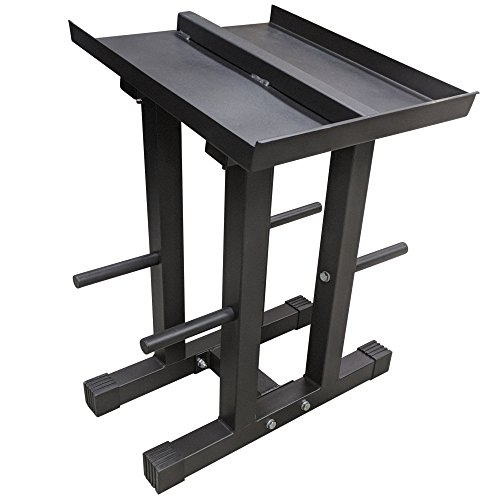 Titan Adjustable Dumbbell Column Stand and Plate Tree Power Block by Titan Fitness