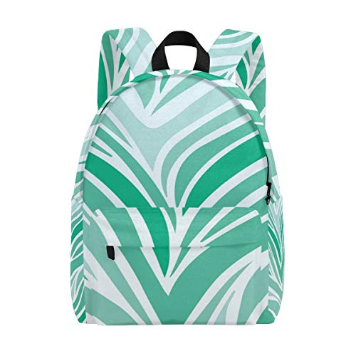 (Soft Zebra Print Kid Backpack Childrens' Twill Weave School Bag Perfect for School or Travel)