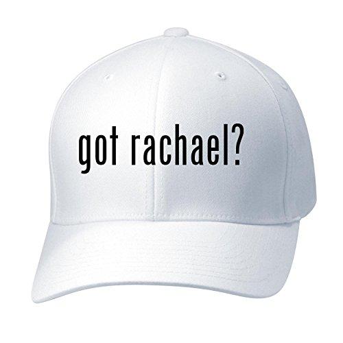 (BH Cool Designs got Rachael? - Baseball Hat Cap Adult, White, Small/Medium)