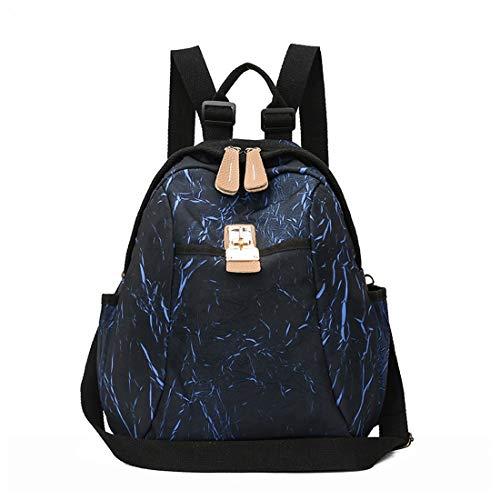 Volver Señoras De Super School Capacidad Blue Dacron Mochila Yy1 Gran Moda Student Bolsa Commuter Ligero Kunliyin High C05Bgqwn