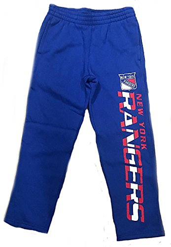 Outerstuff Youth New York Rangers Royal Post Practice Open Bottom Sweatpants (L=14/16)