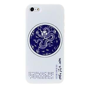 GONGXI-Porcelana dragón patrón florero caso suave de TPU para el iphone 5/5s