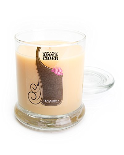 - Caramel Apple Cider Candle - Medium Beige 10 Oz. Highly Scented Jar Candle - Made with Natural Oils - Bakery & Food Collection