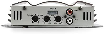 auna C300.2 - Amplificador de Coche , Terminal de 2 Canales , 2 x 200 W Musik- / 2 x 100 W RMS , Ecualizador de Dos Bandas Regulable , 20 Hz - 20 kHz ...