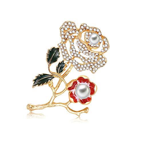 BONFASH Brooch Pin Women's Sun Flower Breastpin Crystal Diamond Brooch pin (Diamond Frog Pin)