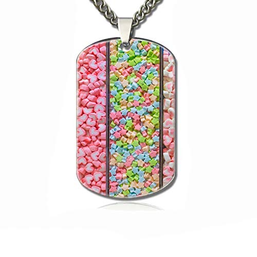 Rongx Marshmallow Dog Tag Necklaces,Personalized Dog Tags