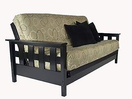 Amazon Com Strata Furniture Lambton Black Queen Wall Hugger