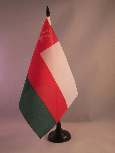 BANDERINA de DESPACHO OMANESA 14 x 21 cm AZ FLAG Bandera de Mesa de OM/ÁN 21x14cm