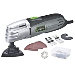 Use the Genesis power Tools multipurpose oscillating tool as a detail sander, close-quarters saw, power Scraper, or grout removal tool. It is a versatile tool for home repair, remodeling, and restoration. It features a 1. 5 amp motor that del...