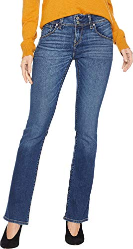 Hudson Jeans Women's Beth Midrise Petite Baby Boot Flap Pocket Jean, FENIMORE, 27
